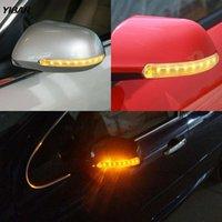 2 pçs / Pairsoft Piscando FPC Universal Amarelo 9 SMD Âmbar Fonte de Luz de Luz Carga Sinal Auto Retrovisor Espelho Lâmpada Indicador LED luz de emergência