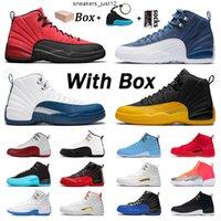 Avec boîte de qualité supérieure chaussures de basketball mens de la grippe 12 de la grippe de la grippe 12S Dark Concord Stone Blue XII OVO formateurs