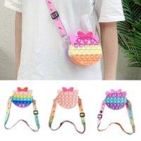 Cat Bag Pop It Fidget Stress Release Toy Simple Dimple Anti-Stress Coin Purse Push Bubble Squeeze Messenger Bag for Girls Gift