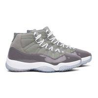 2021 릴리스 정통 멋진 회색 11 11S 농구 신발 실제 탄소 중간 백색 CT8012-005 여성 남성 레트로 스포츠 스니커즈 원래 상자