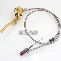 Handlebars Motorcycle Hydraulic Clutch Lever Master Cylinder 1200mm For 125cc-250cc RMZ Vertical Engine Off Road Dirt Pit Bike ATV