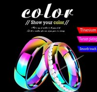 ring fashion Color couple 6mm smooth arc stainless steel jewelry wholesale