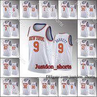 NovoIorqueKnicks.Jerseys de basquete R.J.Barrett Julius Randle Payton Bobby Associação Associação Rookie Hot Press City Nova Edição
