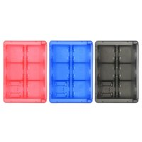 24 in 1 휴대용 게임 카드 카트리지 홀더 저장 케이스 + 2 microSD 확장 카드 슬롯 NS 스위치 여행 상자 하드 쉘 고품질 빠른 배