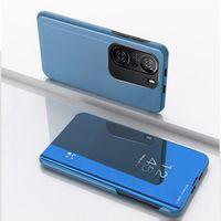 Xiaomi Redmi K40 Pro Mi 11 Poco M3 X3 NFC 노트 9S 9T에 대한 가죽 거울 플립 스탠드 케이스