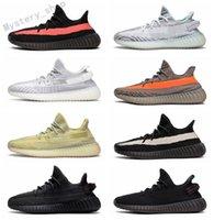 Adidas Yeezy BOOST 350 V2 Kanye West 2021 Tereyağı Susame 35 V2 Statik Erkek Ayakkabı Sneakers Mavi Renk Tonu Üçlü Beyaz Bayan Zebre Bred Eğitmenler Boyutu36-45 E1