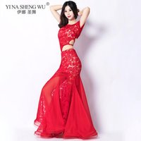 Stage Wear Women Bellydance Oriental Practice Performance Belly Dance Costume Set Lace Ruffle Clothing Suit