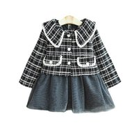 Girls Sweater Sets Kids Clothing Baby Clothes Outfits Autumn Winter Children Suits Woolen Coat Tops Sleeveless Dress 2Pcs B8364