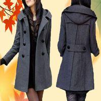 Women's Wool & Blends 2021 Nicesense Designer Womens Autumn Coats Abrigos Mujer Invierno Winter Coat Women Manteau Femme Hiver Casaco Red Wa