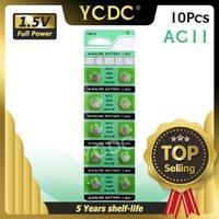 10pcs / pack 1.55v AG11 G11 G11 LR721 362 Batterie a pulsante SR721 162 LR47 SR721SW Cell Coin Batteria alcalina per orologi giocattoli a distanza