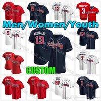 13 Рональд Апуна JR. Jersey Braves 44 HANK AARON 27 Austin Riley Acuña Jr Atlanta Мужские Женщины Дейл Мерфи Данси Сульсон Ози Альбилс