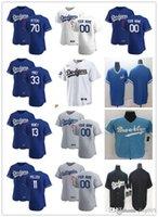 "Hommes Femmes Jeunesse Los ""Angeles"" Dodgers ""13 MAX MUNCY 70 DJ Peters 11 AJ Pollock 33 David Prix noir Bleu Noir Custom Baseball Jersey"