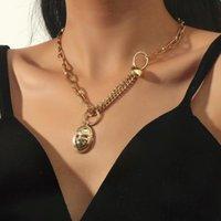 Pendant Necklaces ORNAPEADIA Alloy Retro Adjustable Chain Necklace For Women Mask Shaped Female Design Jewelry Wholesale