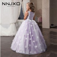 6 10 12 14Years Kids Floral Princess Dress Long Prom Gowns Teenage Wedding Evening Dresses Girl Bridesmaids Bow Princess Costume 210427