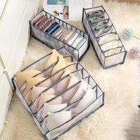 Caixa de armazenamento da gaveta Caixa de sutiã Organizador Underpants Caixa de acabamento Meias Dobrável 24 Grid Divisor Bras Sock Suprimentos HWB7071