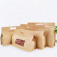 Borsa di organo ottagonale della carta Kraft con la finestra della finestra dell'imballaggio dell imballaggio della borsa dell'autosanguatura del tè secco e della borsa della frutta essiccata