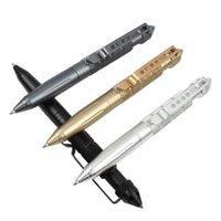 Ballpoint Pens Baikingift Высококачественная защита Обороны Личная тактическая ручка Самозащитная Инструмент Многофункциональный Авиационный Алюминий Анти-Снос Портативный
