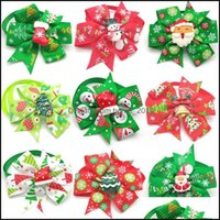 Supplies Home & Garden30 50 Pc Christmas Pet Dog Aessories Puppy Bow Ties With Xmas Cat Bowtie Necktie Small Apparel Drop Delivery 2021 Dobq
