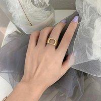 2021 Messing Ring Blanks Verstelbare vinger Ringen Bases voor Sieraden Maken Alfabet Letter Charm Instelling Bulk Designs met tas