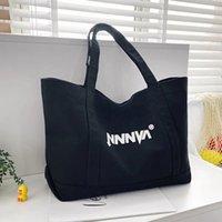 Casual Women's Canvas Shopping Bags Large Capacity Open Handbag Simple and Practical Ladies Shoulder Bag