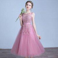 Bridesmaid Dress Pink Midi Wedding Party Elegant Dresses Short Creme Evening