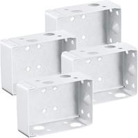 Кусочки слепых кронштейнов 2 дюйма низкая профильная коробка монтажный кронштейн для подголовника (белый) другой домашний декор