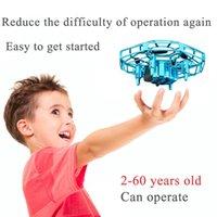 4DRC V3 Mini Drone UFO Oyuncaklar Kızılötesi Algılama Kontrolü El Uçan Uçak Quadcopter Infraed RC Helikopter Çocuk Oyuncak 210325