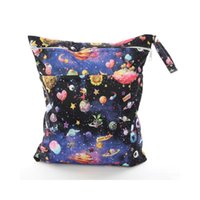 Diaper Bags 30*36cm Mummy Nappy Bag Dual Pocket Print Baby Tote Travel Waterproof Maternity Wet For Mommy Storage Stroller