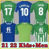 Homens + Crianças 21 22 Real Betis Futebol Jersey Joaquin Loren Boudebouz Bartra Futebol Jerseys Home 3ª 4ª Treinamento Terno Comemorativo Edição Fekir 8