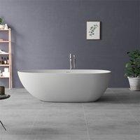 アクリル自立コンテンポラリー浸漬浴槽、エレガントなマットの純粋な白い楕円形の浴槽CUPC認定