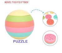 Party Favor Creative Spheric Magic Fidget Toys Rainbow Ball Puzzle Decompression Children Educational Learning Finger Toy Game For Kids Gift