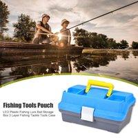 Caixa de armazenamento da isca da isca da pesca ABS Punho 3 camadas Ferramentas do equipamento Resistência à compactação do caso exterior para acessórios de Leo
