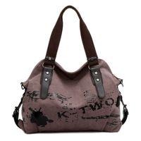 Vintage Graffiti Women Bag Canvas Handbag Female Famous Designer Shoulder Bag Ladies Tote Large Crossbody Sac a Main bolsos Muje C0602