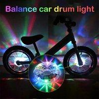 أضواء الدراجات الصمام زهرة طبل ضوء في الدراجات usb شحن 1 7 ألوان عجلة الديكور fietsaccessoires # 30 دراجة