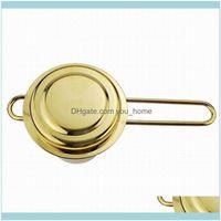 Strainers Kitchen, Dining Bar Home & Gardenstainless Steel Gold Tea Infuser Basket For Teapot Cup Teaware Wholesale Strainer Folding Foldabl