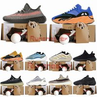 Kanye West 700 v2 Chaussures de course pour hommes Bright Blue Sun Cream v3 Arzareth Sports Sneakers 500 Blush Utility Black Ash Stone Pearl Designers Baskets 36-48
