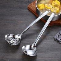 304 Edelstahl Löffel Suppe Leckage Haushaltsrestaurant Küche Werkzeuge Kochlöffel Verdickte lange Griff