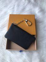 جودة عالية تصميم المحمولة مفتاح p0ug الزهور السوداء محفظة رجل الكلاسيكية / المرأة عملة محفظة حقيبة حقيبة مع أكياس الغبار والهدايا مربع
