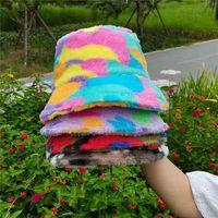 겨울 가을 어부 모자 넥타이 염료 색상 인쇄 양동이 모자 한국어 패션 따뜻한 위장 봉 제 모자 여자 액세서리 헤드 착용 G69MTL4