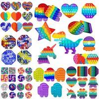 Rainbow Push Fidget Spielzeug Sensorische Push-Blase Zappeln Sensorische Autismus Sonderbedürfnisse Angst Stress Reliever Für Büroangestellte Fluorescens