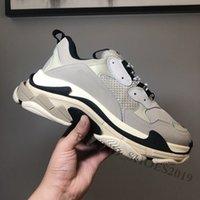 2021 الثلاثي حذاء رياضة مصممين منصة رجل إمرأة عارضة الأحذية الفضي باريس 17fw كل الأبيض سرعة أسود الوردي خمر الرجال النساء أبي المدربين في الهواء الطلق