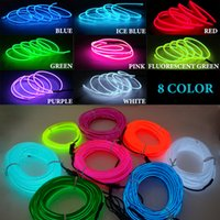 5M USB plup Car Interior Lighting Neon Light Garland Wire EL Rope Tube Ambient LED Strip Decoration Flexible Colors Auto