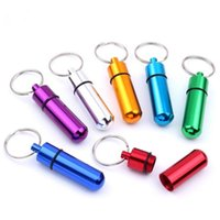 Keychains Keychain Water Proof Aluminum Jewelry Box Case Container Bottle Outdoor Portable Tool