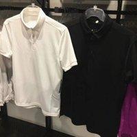 Orijinal Moda Kanca Tasarımcı Spor Tshirt Fitness Üst Tee erkek Polo Gömlek Kısa Kollu Spor Yüksek Kalite