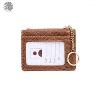 محافظ زينوس تصميم حاملي بطاقات الهوية الفاخرة مع سلسلة مفتاح حامل بطاقة النعام نمط محفظة 11