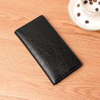 Men'S Wallet Thin Slim Wallet Leather Long Male Clutch Mens Wallets Coin Hand Purse Pocket Cartera Hombre Billetera Hombre 2021
