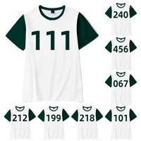 Women's T-Shirt Squid Game Merch 067 Summer Short Sleeve Shirt For Men And Women Streetwear 3d Printed Costumes Tshirt1