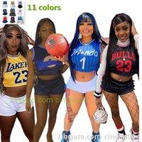 مثير النساء رياضية اثنين من قطعة مجموعة كرة السلة الطفل تستندات قصيرة الأزياء الملابس أكمام إلكتروني طباعة الدانتيل يصل سترة بدلة