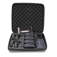 Lixada Wireless digitaler Fischerei-LED-Alarmalarm-Set 4 Biss + 1 Empfänger mit LCD-Bildschirmanzeigekettenaufhänger Zubehör