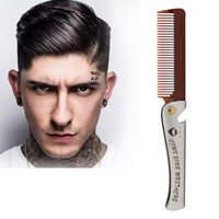 Hair Brushes Folding Steel Combs For Men Oil Head Portable Beard Styling Product Man Foldable Comb